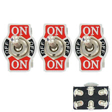 3 X Heavy Duty 20A 125V DPDT 6 Terminal On/Off/On Rocker Toggle Switch Sales
