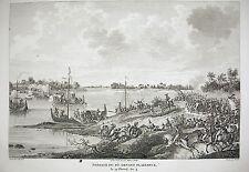 Passage du Pô devant Plaisance Lasnes Napoléon Bonaparte 1815 Carle Vernet