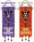 """Disney Parks Mickey Haunted Mansion """"Reversible"""" Halloween Decoration Banner NEW"""