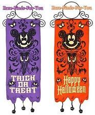 """Disney Park Mickey Haunted Mansion """"Reversible"""" Halloween Door Hanger Decoration"""