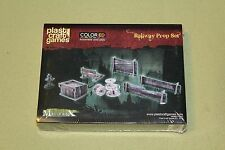 Railway Prop Set Plast Craft Games NEW! Designed for Malifaux Sealed! Colored