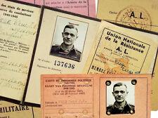 1941 WWII Belgian Resistance - POLITICAL POW MINI ARCHIVE - German Prisoner