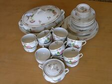 46 pieces of Antique J G Meakin Hanley England Dresden Style Floral Dinning Set