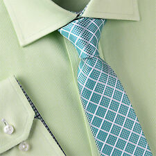 """Green Teal Geometric 3"""" Skinny Tie Luxury Designer Patterned Nortorious Lucky GQ"""