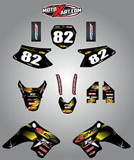 Full Custom Graphic Kit Suzuki DRZ 70  -  2009 / 2016 BARBED STYLE sticker kit