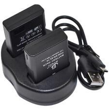 2x Battery+Charger EN-EL14 EN-EL14a EN-EL14e D3100 D3300 D5100 D5200 D5300 D5500