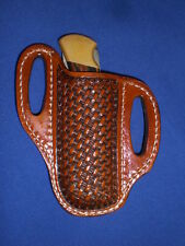 leather knife sheath pancake cross draw BUCK 110 case scabbard LARGE