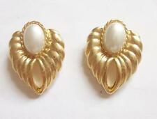 2 VINTAGE 1960'S SIGNED BLUETTE MADE IN FRANCE PEARL SHOE CLIP BROOCHES BUCKLES