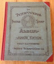 THE INTERNATIONAL POSTAGE STAMP ALBUM 600 + Stamps JUNIOR EDITION 1928