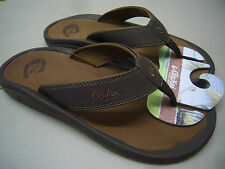 OLUKAI MENS SANDALS OHANA DARK JAVA RAY SIZE 11