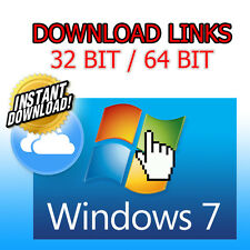 Windows 7 sp1 Home/PRO 32/64 Bit-ISO file-Download Digitale solo