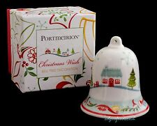 PORTMEIRION CHRISTMAS WISH BELL TREE DECORATION BAUBLE