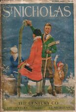 1925 St. Nicholas February - skiing for Life; Forest Fires and firefighters