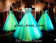 Sweet 16 Multi Color Tulle Prom Formal Evening Gown Princess Quinceanera Dresses
