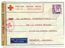 NED INDIE DUTCH INDIES 1940-11-23  RED CROSS-CENSOR PM-SOERABAJA- TO SWITZERLAND