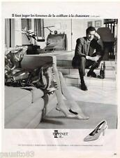 PUBLICITE ADVERTISING 095  1987  F. PINET   chaussures