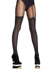 Henry Holland Silver Chain Black Suspender Tights M/L - S/M