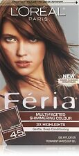 L'Oreal Feria 45 Deep Bronzed Brown (Pack of 12)
