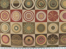 Drapery Upholstery Fabric Geometric Chenille Jacquard - Circles in Squares