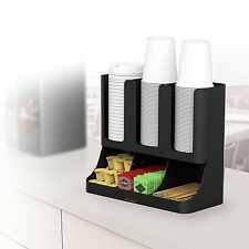 Organizer Condiment Coffee Cup Tea Holder Office Breakroom Dispenser Rack New