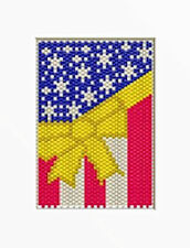 Support Our Troops Beaded Banner Pattern