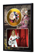 Dolly Parton Gold Vinyl Look CD, Autograph & Plectrum Display