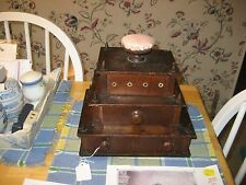 1850S HAND MADE GOTHIC SEWING BOX WITH PINK SILK PINCUSHION PAICTURE/FAMILY HIST