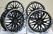"18"" CRUIZE 190 ALLOY WHEELS STAGGERED BLACK POLISHED DEEP DISH 18 INCH ALLOYS"