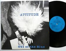 ATTITUDE Out of the blue LP Blue Records 1987 New Wave Rock Near-MINT vinyl