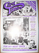 CARD TIMES MAGAZINE FORMERLY CIGARETTE CARD MONTHLY No 125 SEPTEMBER 2000