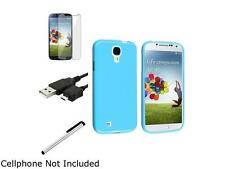 Insten 4 Accessory Blue Case + Clear Screen Film + USB Cable + Silver Stylus Com