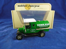 Matchbox Yesteryear Y-3 1912 Model T Ford Tanker Zerolene Standard Oil Company