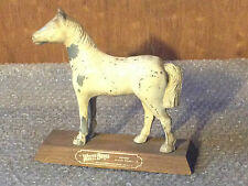 Vintage White Horse Blended Scotch Whisky Metal & Wood Horse Store Display Sign