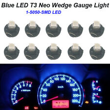 10pcs T3 Blue Neo Wedge LED Bulb Cluster Instrument Dash Climate Base Lights
