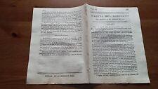 Núm. 12 Gazeta del Gobierno  del Martes 29 de Agosto de 1809 Tarragona Teruel...