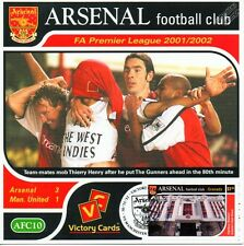 Arsenal 2001-02 Man. United (Thierry Henry) Football Stamp Victory Card #110