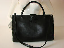 BCBG Max Azria Black Faux Leather Handbag/Satchel/Shoulder Bag