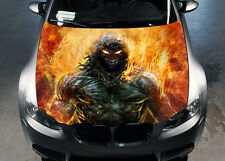Demon Fire Car Hood Wrap Color Vinyl Sticker Decal Fit Any Car