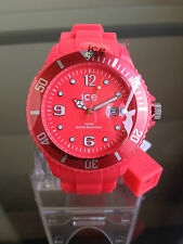 NIB ICE Summer Collection Silicone & Resin Strap Watch - Neon Red