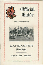 West O.B, Sydenham, Technical, Albion 18 May 1929 Canterbury NZ Rugby Programme