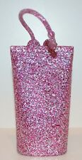 BATH & BODY WORKS PINK GLITTER TRAVEL SIZE CREAM LOTION HOLDER SLEEVE CARRIER
