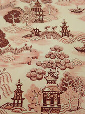 Dollhouse Wallpaper China Grove Burgundy