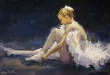 "Oil painting, Nude Figure PAinting ""Baller Dancer"" impressionist Russian realism"
