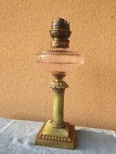 LAMPE A PÉTROLE CRISTAL ONYX ET BRONZE / EMPIRE