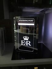 Illuminated Acrylic Royal Mail Wedding Post Box In Mirror Finish... now lockable