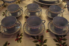 Vintage Wedgwood c1964 Embossed, 5 cups and saucer Queensware