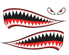 Shark Teeth Eyes Decal Retro Sticker DIY Car P40 Warhawk