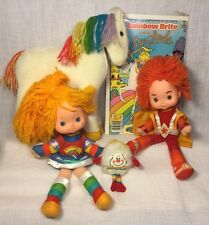 Vintage 1980s Rainbow Brite Plush Doll Lot Starlite Horse Red Butler Twink