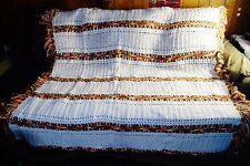 Handcrafted Crocheted Afghan Multi Color Trow  '' 65 x 60