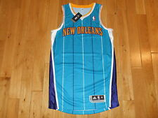 NEW 2010 ADIDAS NEW ORLEANS HORNETS MENS BLANK NBA AUTHENTIC TEAM JERSEY MED +2